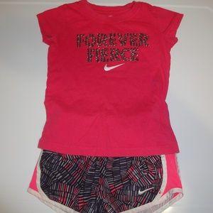 Nike Girls Shirt Shorts Set